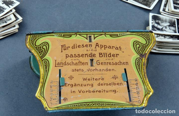 Fotografía antigua: Visor estereoscópico Imperial hojalata litografiada con 176 vistas estereoscópicas PP S XX - Foto 8 - 162931390