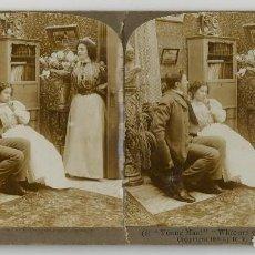 Fotografía antigua: FOTO ESTEREOSCOPICA OBRA BROADWAY, NEW YORK , AÑO 1900 - YOUNG MAN !!, BY R.Y. YOUNG. Lote 164977902