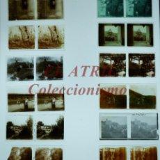 Fotografía antigua: 12 VISTAS ESTEREOSCOPICAS DIFERENTES CRISTAL POSITIVO - AÑOS 1910-20, VER FOTOS ADICIONALES. Lote 165088246