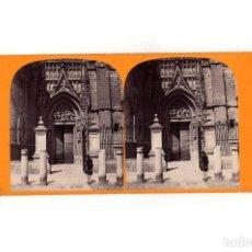 Fotografía antigua: ESTEREOSCÓPICA.- SEVILLA. PUERTA DE LA CATEDRAL.. Lote 165744674