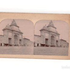 Fotografía antigua: ESTEREOSCÓPICA.- MADRID.- PUERTA DE TOLEDO.. Lote 165819954