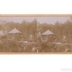Fotografía antigua: ESTEREOSCÓPICA.- MADRID.- ARANJUEZ.- CASA DE LOS MARQUESES DE VADILLO. 1898.. Lote 165887746
