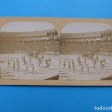 Fotografía antigua: MADRID - PLAZA DE TOROS - VISTA ESTEREOSCOPICA - AÑOS 1900-1910. Lote 166150434