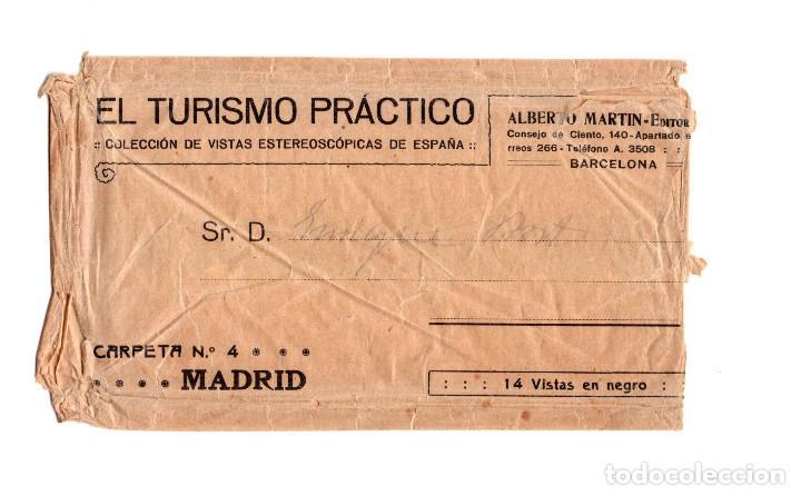 Fotografía antigua: MADRID.- COLECCIÓN. 14 ESTEREOSCÓPICAS. EL TURISMO PACTICO. - Foto 2 - 166790462