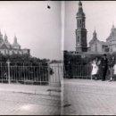 Fotografía antigua: ZARAGOZA NEGATIVO ESTEREOSCOPICO CELULOIDE. Lote 167101592