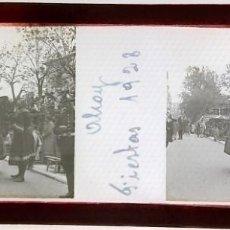 Fotografía antigua: ALCOY FIESTAS MOROS Y CRISTIANOS CRISTAL POSITIVO 1928. Lote 167781364