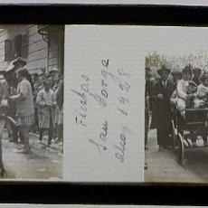 Fotografía antigua: ALCOY FIESTAS MOROS Y CRISTIANOS CRISTAL POSITIVO 1928. Lote 167781608