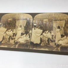 Fotografía antigua: FOTOGRAFÍA ESTEREOSCÓPICA. (IMPERIAL SERIES) Nº 5448 DESPUES DEL BAILE. Lote 167949092