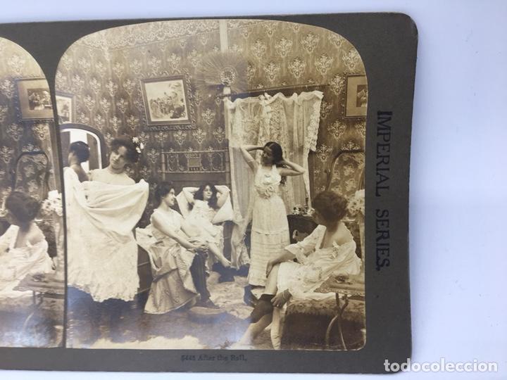 Fotografía antigua: FOTOGRAFÍA ESTEREOSCÓPICA. (IMPERIAL SERIES) Nº 5448 DESPUES DEL BAILE - Foto 2 - 167949092