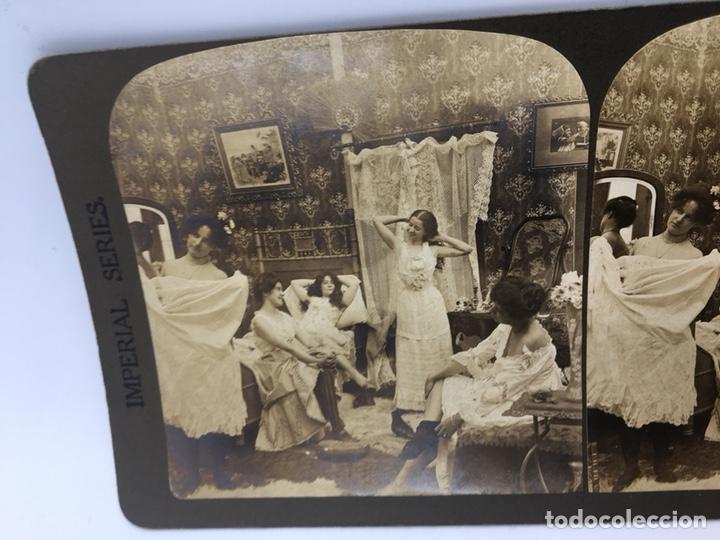 Fotografía antigua: FOTOGRAFÍA ESTEREOSCÓPICA. (IMPERIAL SERIES) Nº 5448 DESPUES DEL BAILE - Foto 3 - 167949092
