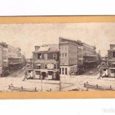 Fotografía antigua: NEW ORLEANS, CAMP STREET. NUM. 418. ALBÚMINA 8,5X17,5 CM.. Lote 167952776