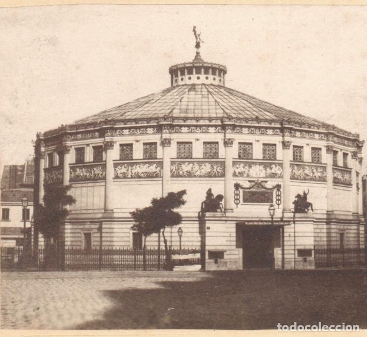CIRQUE NAPOLEON, PARÍS. 1860S. ALBÚMINA 8,5 X 17 CM. (Fotografía Antigua - Estereoscópicas)
