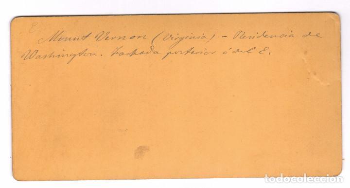Fotografía antigua: MOUNT VERNON, VIRGINIA. USA. ALBÚMINA ESTEREO 8,5X17 CM. - Foto 2 - 167953208