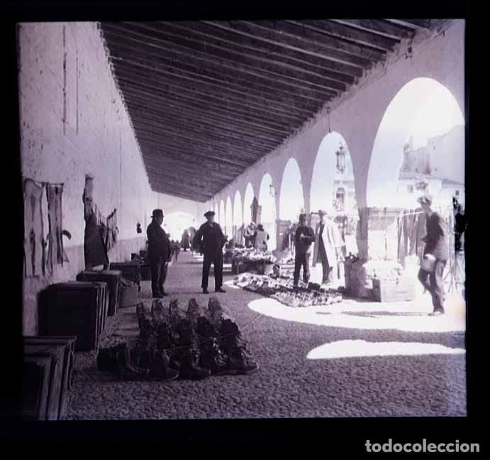 NORTE DE ESPAÑA. GALICIA. MERCADO. PLAZA. C.1930 (Fotografía Antigua - Estereoscópicas)