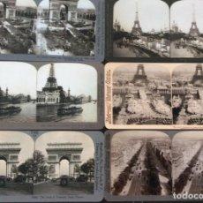Fotografía antigua: FOTOS ESTÉREO DE PARIS 1900. Lote 168485428