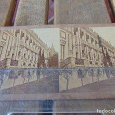 Fotografía antigua: GAUDIN SIGLO XIX VISTA ESTEREOSCOPICA ALBUMINA Nº 227 PALACIO DE SAN TELMO SEVILLA . Lote 169291492
