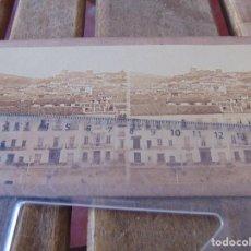 Fotografia antiga: GAUDIN SIGLO XIX VISTA ESTEREOSCOPICA ALBUMINA Nº 316 HOTEL MINERVA ALHAMBRA GRANADA. Lote 169293428