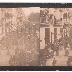 Fotografía antigua: ALCOY - CALLE DE SAN NICOLÁS. 1900'S. 8X18 CM.. Lote 169591284