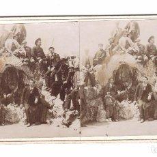 Fotografía antigua: ALCOY - PARQUE DE LA FLORESTA, 1900S. FOTOGRAFÍA ESTEREO 9X18 CM.. Lote 169657624