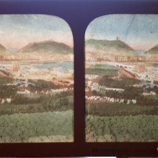 Fotografía antigua: ANTIGUA FOTOGRAFÍA COLOREADA VISTA DE SAN SEBASTIÁN DESDE CONCORRENEA . Lote 169836332