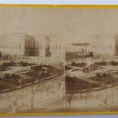 Fotografía antigua: MADRID PALACIO DE ORIENTE ESTEREOSCOPICA . Lote 169904872