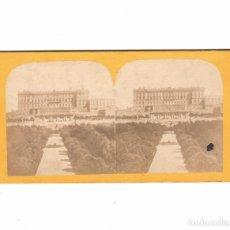 Fotografía antigua: MADRID - PALACIO REAL. 1857-62 APROX. VOYAGE EN ESPAGNE. 8,5X18CM.. Lote 170149376