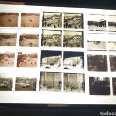 Fotografía antigua: LOTE 12 PLACAS ESTEREOSCOPICAS EN POSITIVO BARBASTRO HUESCA. CORRIDA TOROS, TAUROMAQUIA. 1930. Lote 170198465