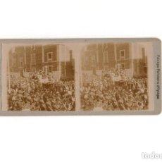 Fotografía antigua: ESTEREOSCÓPICA.- MADRID.- CORONACIÓN REY ALFONSO XIII.. Lote 171135588