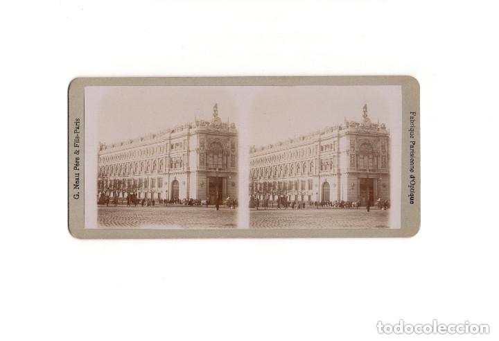 ESTEREOSCÓPICA.- MADRID.- EL BANCO DE ESPAÑA. (Fotografía Antigua - Estereoscópicas)