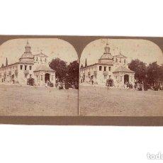Fotografía antigua: ESTEREOSCÓPICA.- MADRID.- ROMERIA DE LA CARA DE DIOS.ERMITA SAN ISIDRO.. Lote 171137362