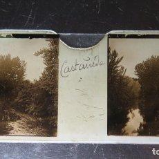 Fotografía antigua: FOTOGRAFIA ESTEREOSCOPICA EN CRISTAL. CASTAÑEDA. CA. 1900. Lote 171270390
