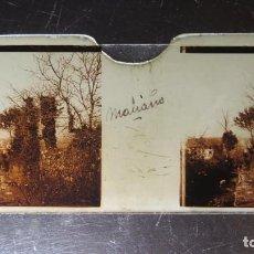 Fotografía antigua: FOTOGRAFIA ESTEREOSCOPICA EN CRISTAL. MALIAÑO. CANTABRIA. CA. 1900. Lote 171270469