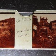 Fotografía antigua: FOTOGRAFIA ESTEREOSCOPICA EN CRISTAL. CASA SOLARIEGA. CASTAÑEDA. CA. 1900. Lote 171271655