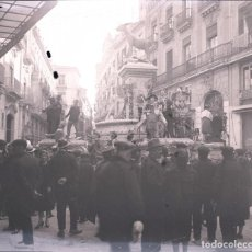 Fotografía antigua: VALENCIA FALLAS NEGATIVO CRISTAL ESTEREOSCOPICO . Lote 171342003