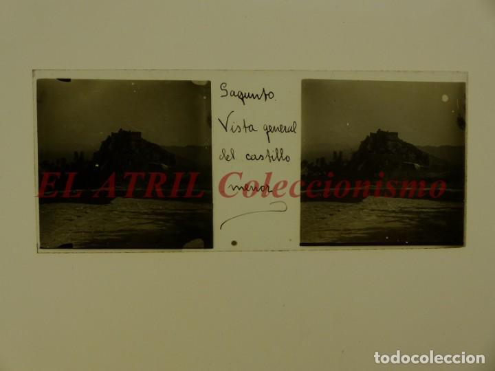 Fotografía antigua: SAGUNTO, VALENCIA - 8 POSITIVOS EN CRISTAL ESTEREOSCOPICOS - AÑOS 1910-1920 - Foto 2 - 172014372