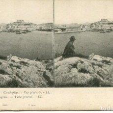 Fotografía antigua: CARTAGENA - VISTA GENERAL - ED· LL -POSTAL ESTEREOSCÓPICA AÑO 1904. Lote 172020159