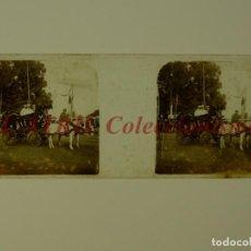 Fotografía antigua: VALENCIA, BATALLA DE FLORES - POSITIVO EN CRISTAL ESTEREOSCOPICO - AÑOS 1925-30. Lote 172068715