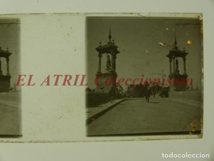Fotografía antigua: VALENCIA, PUENTE DEL REAL - POSITIVO EN CRISTAL ESTEREOSCOPICO - AÑOS 1925-30 - Foto 2 - 172068837