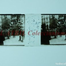 Fotografía antigua: VALENCIA, FALLAS - POSITIVO EN CRISTAL ESTEREOSCOPICO - AÑO 1928. Lote 172072283