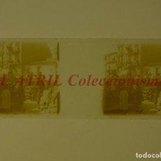 Fotografía antigua: VALENCIA, FALLAS - POSITIVO EN CRISTAL ESTEREOSCOPICO - AÑO 1928. Lote 172072370
