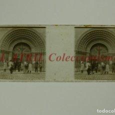 Fotografía antigua: VALENCIA, CATEDRAL PUERTA - POSITIVO EN CRISTAL ESTEREOSCOPICO - AÑOS 1920. Lote 172097599