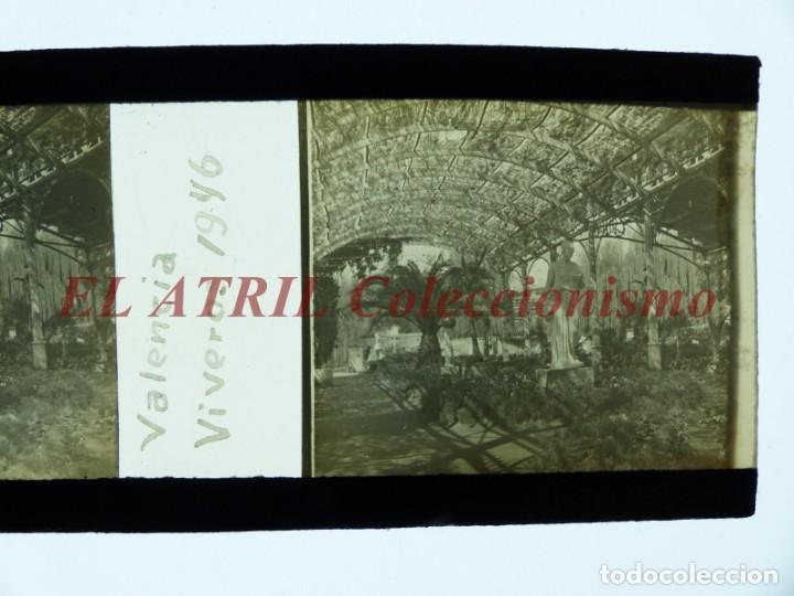 Fotografía antigua: VALENCIA, VIVEROS - POSITIVO EN CELULOIDE ESTEREOSCOPICO - AÑO 1946 - Foto 2 - 172102103