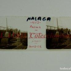 Fotografía antigua: MALAGA O PALMA DE MALLORCA - DESPACHO DE PETROLEO - POSITIVO EN CRISTAL ESTEREOSCOPICO - AÑO 1918. Lote 172102954