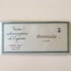 Fotografía antigua: VISTAS ESTEREOSCOPICAS DE ESPAÑA - 15 FOTOGRAFÍAS - GRANADA SERIE 1. Lote 172228197