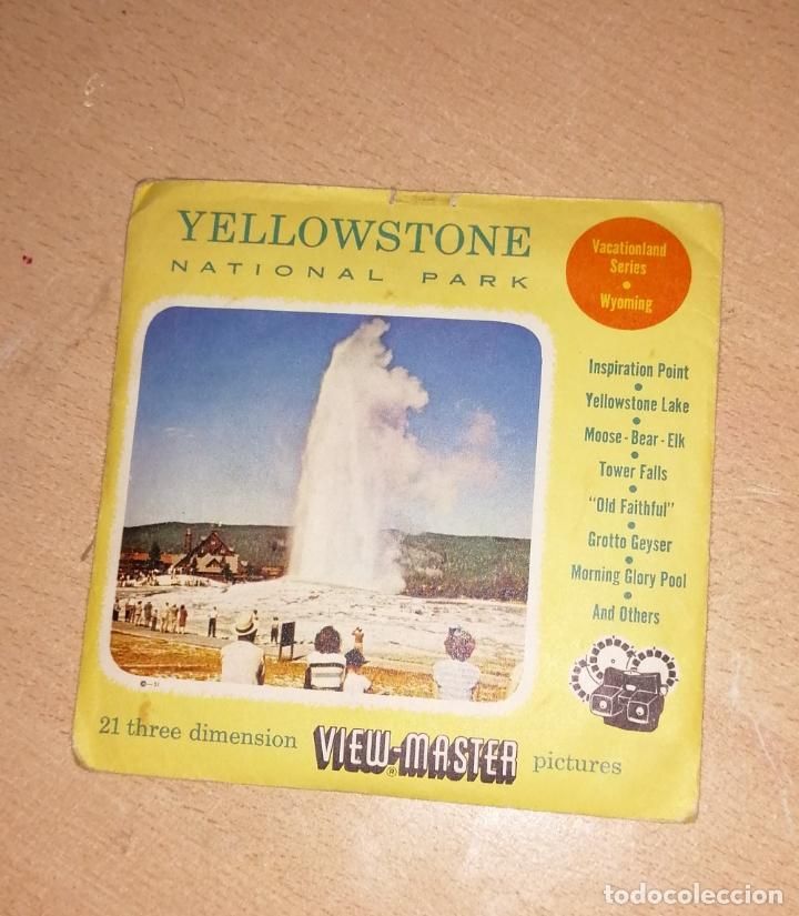 VIEW MASTER YELLOWSTONE3 (Fotografía Antigua - Estereoscópicas)