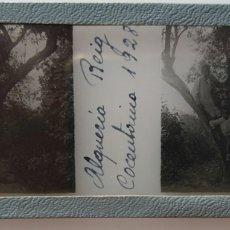 Fotografía antigua: ALQUERIA DE REIG COCENTAINA 1928 POSITIVO DE CRISTAL. Lote 173109147