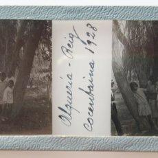 Fotografía antigua: ALQUERIA DE REIG COCENTAINA 1928 POSITIVO DE CRISTAL. Lote 173109458