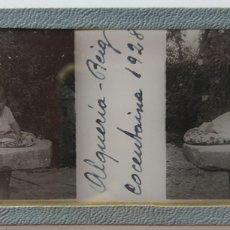 Fotografía antigua: ALQUERIA DE REIG COCENTAINA 1928 POSITIVO DE CRISTAL. Lote 173109713