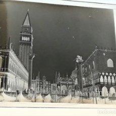 Fotografía antigua: FOTOGRAFIA DE CRISTAL ESTEREOSCOPICA,PLAZA DE SAN MARCOS,VENECIA,1914,PRIMERA GUERRA MUNDIAL. Lote 175071822