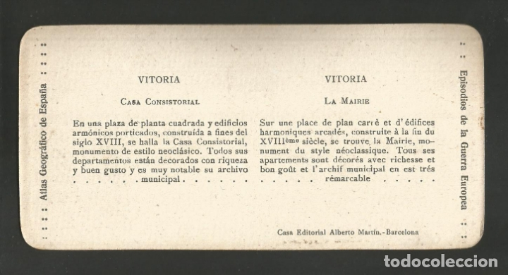 Fotografía antigua: VITORIA-GASTEIZ-CASA CONSISTORIAL-FOTOGRAFIA ESTEREOSCOPICA-VER REVERSO-(V-17.512) - Foto 2 - 175547647